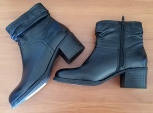 M&S Marks and Spencer Black Leather Bootie 5